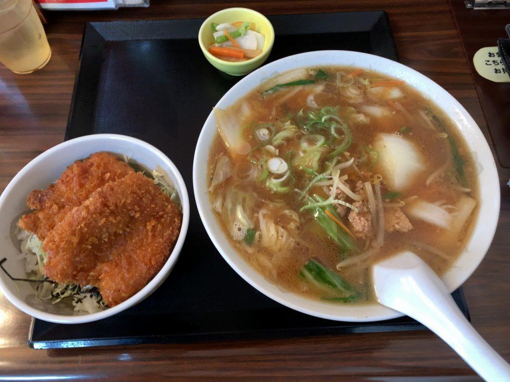 味噌ラーメン&カツ丼セット