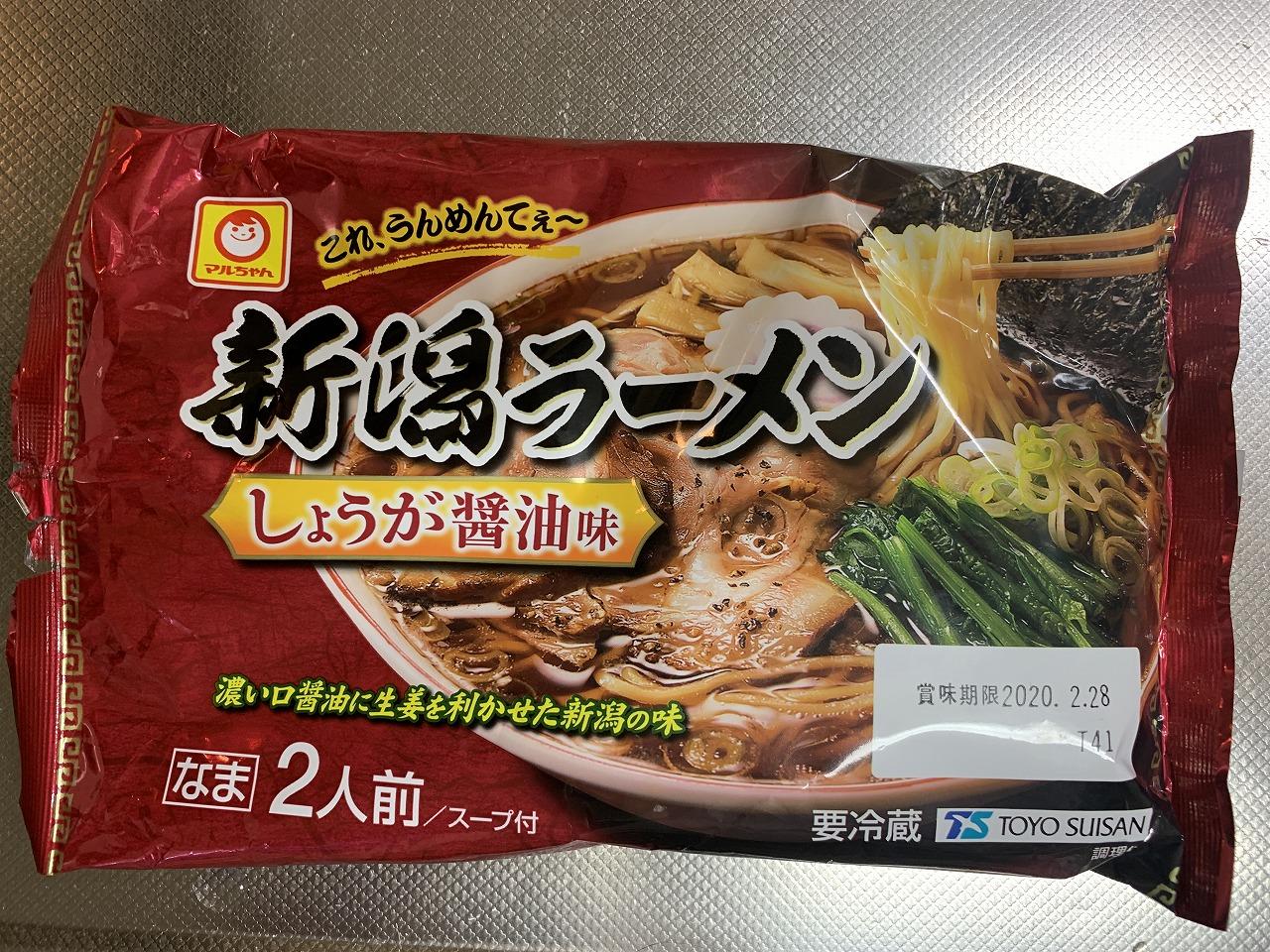 マルちゃん新潟ラーメン生姜醤油。