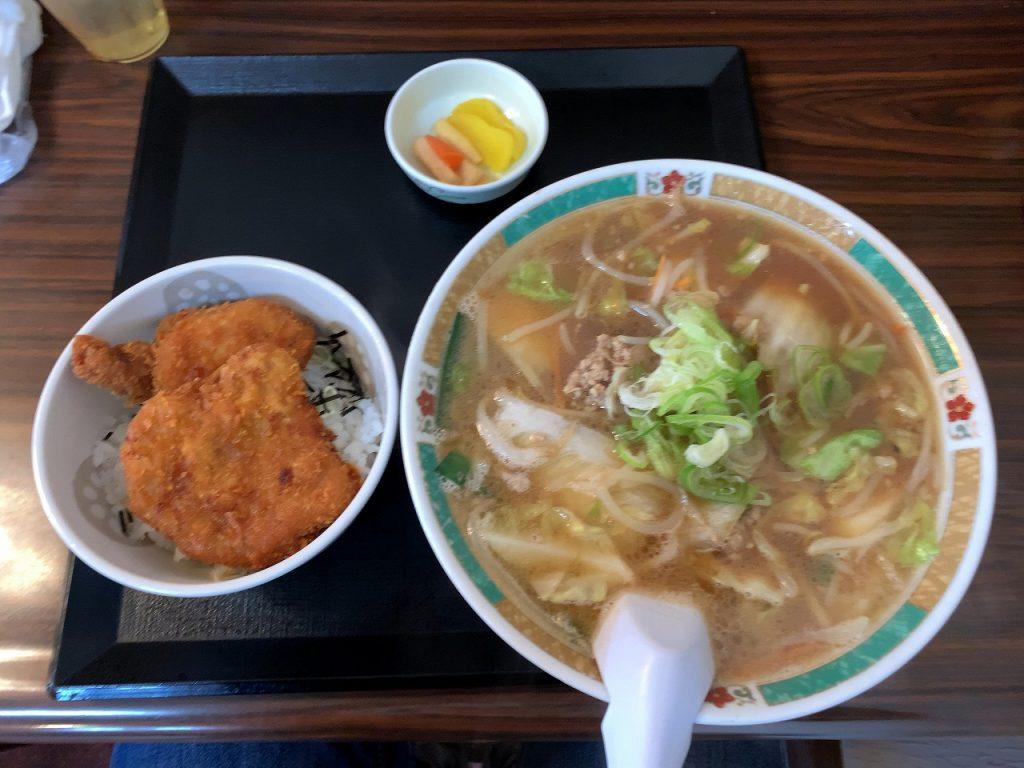味噌ラーメン・カツ丼セット