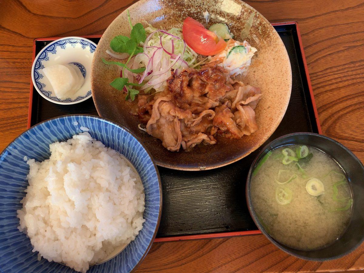 新潟市江南区 太和良食堂 生姜焼き定食