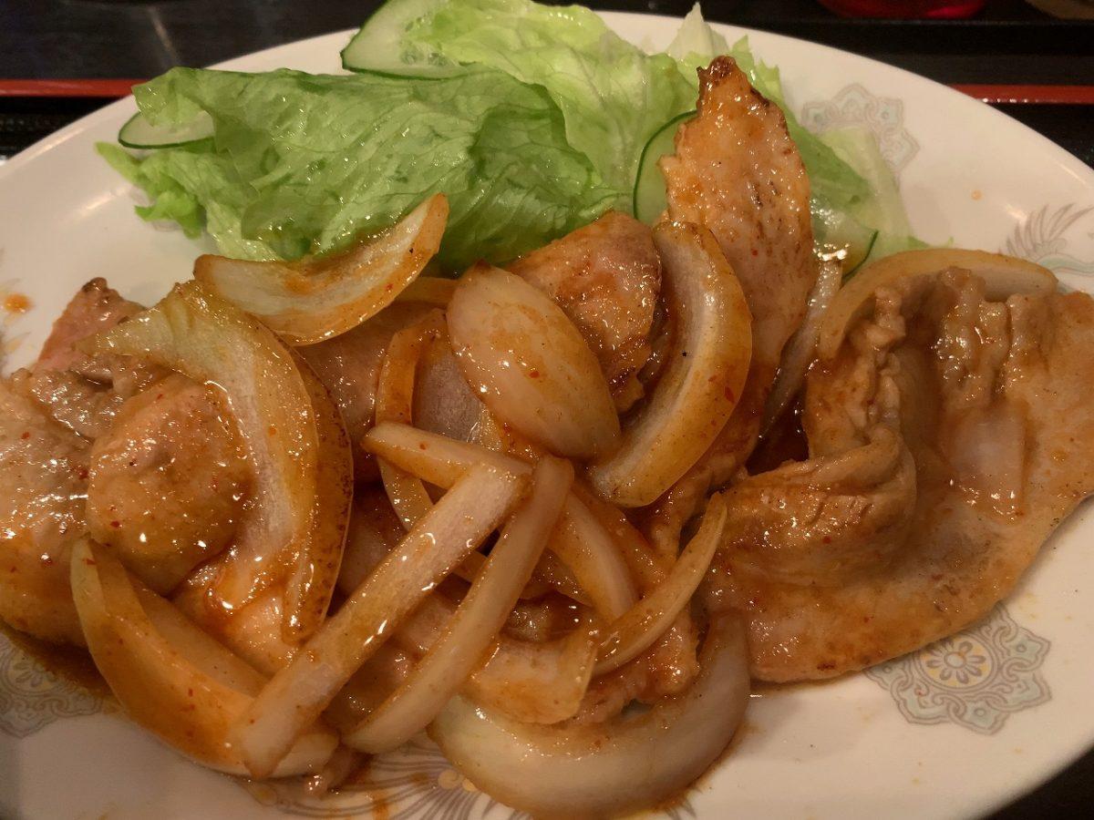三条市 宝華食堂 一品料理で定食化を頼んでみた。