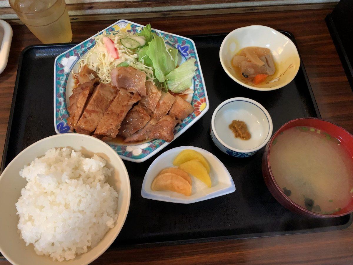 三条市 割烹食堂 福泉 「初 」生姜焼き定食