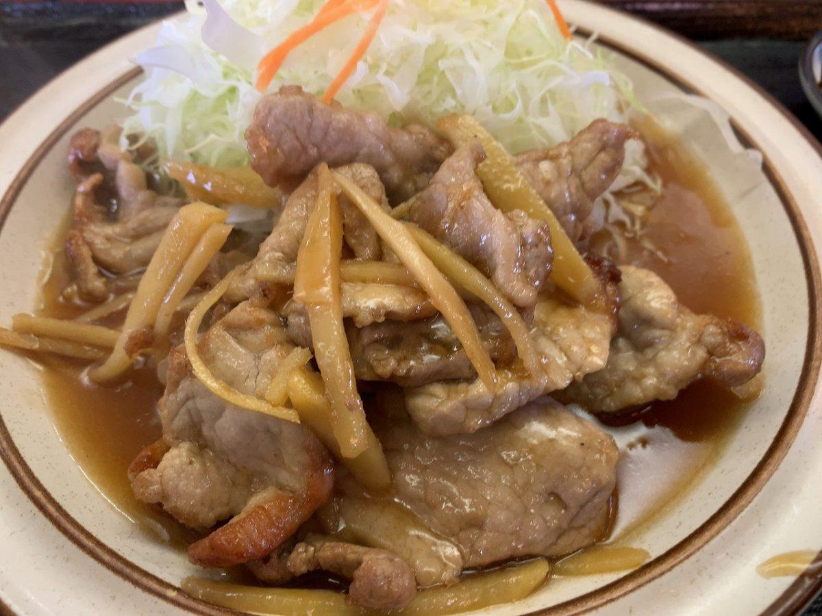 三条市 とんかつ三条 生姜焼き定食